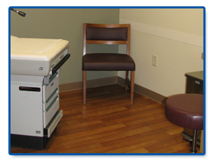 This picture showing a medical exam room in Ann Arbor Michigan cleaning doctor offices.